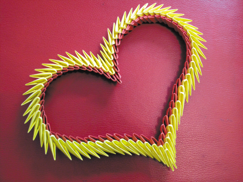 Funky 3D Origami Heart