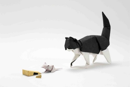 Mice, Cheese and Cat Origami