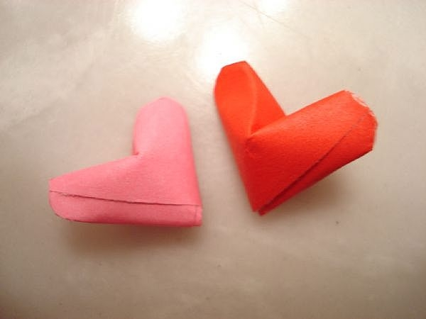 Two Little Heart Origami