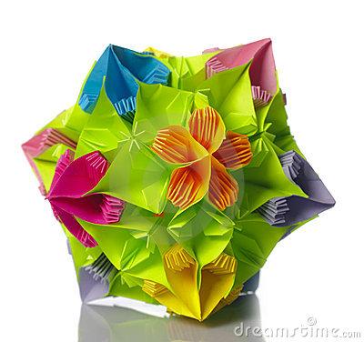 Colorful Kusudama Origami