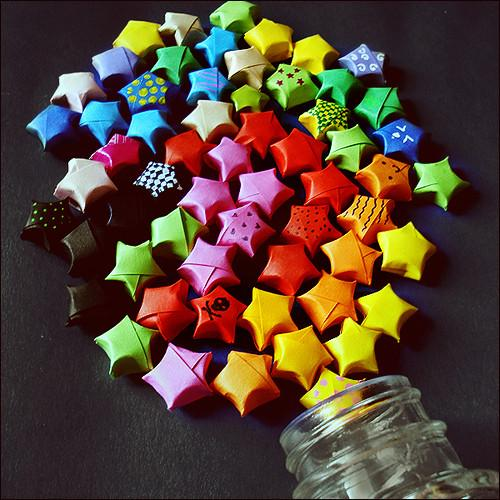 Dazzling Lucky Stars Origami