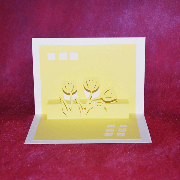 Pretty origami birthday card
