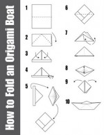 Very Simple Origami Boat Instructions