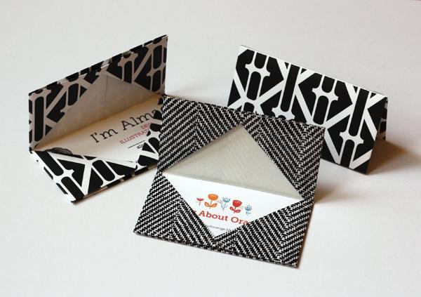 Unique Origami Card Holder