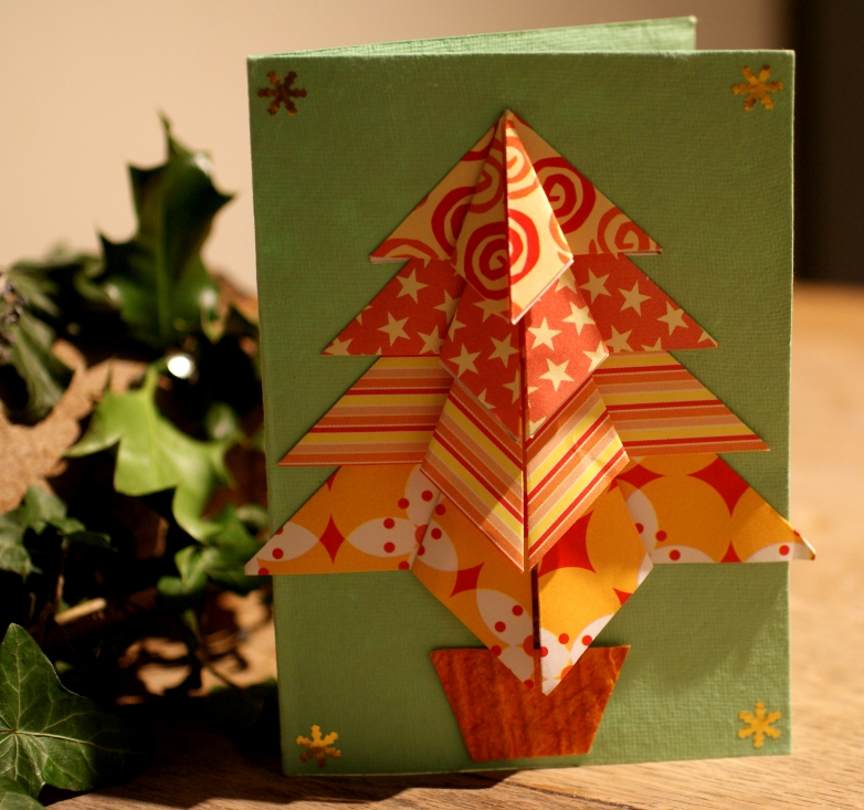 Appealing Origami Christmas Cards 2018 - photo#32