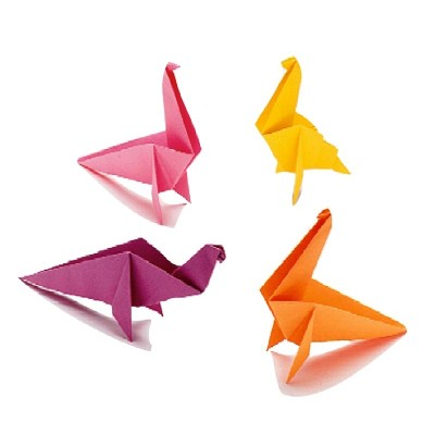 Colorful Origami Dinosaur