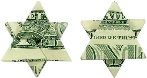 Star Origami Dollar Bill