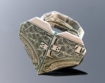 Origami Dollar Heart with a ring