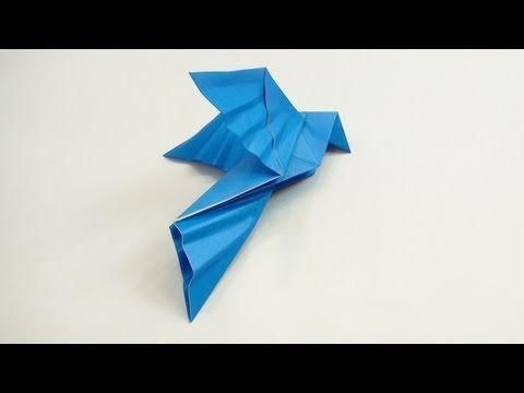 Elegant Blue Origami Dove