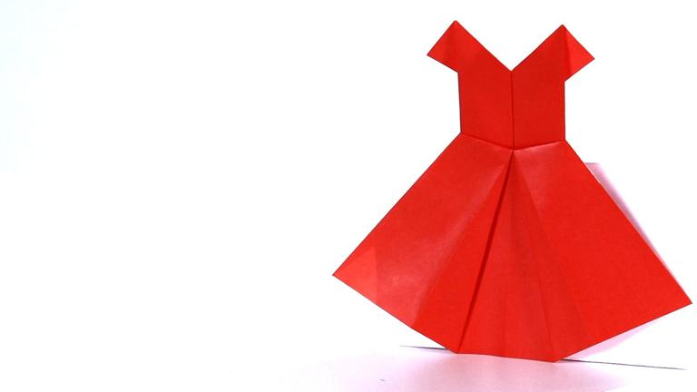 Striking Origami Dress