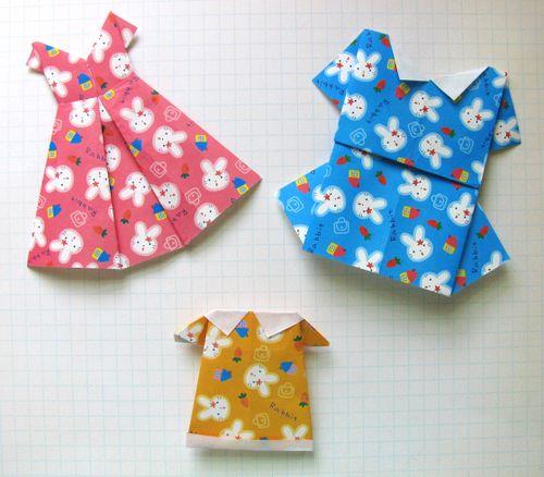 Cute Little Origami Dresses