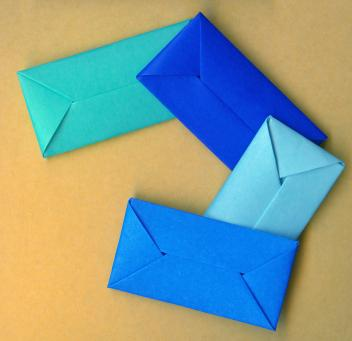 Bluey Origami Envelopes