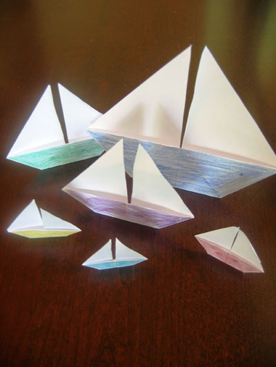 Boats Origami For Children