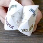 Interesting Origami Fortune Teller