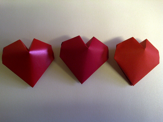 Three Delightful Origami Heart 3D