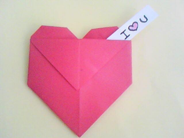 Fine Origami Heart Envelope