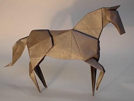 Elegant Origami Horse