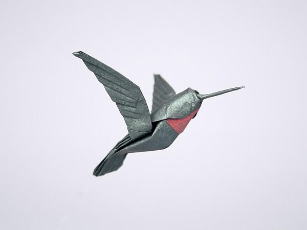 Perfect Origami Hummingbird