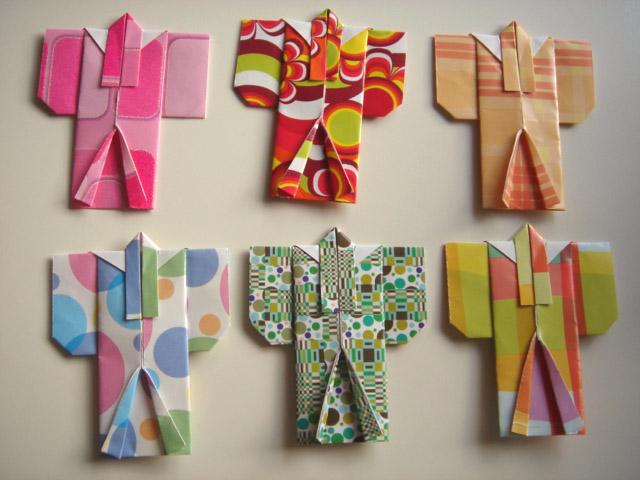 Vibrant Origami Kimono