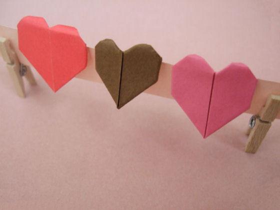 Three Colorful Origami Love