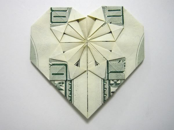awesome origami money heart 2018