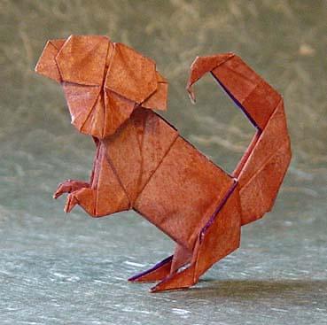 Funny Origami Monkey