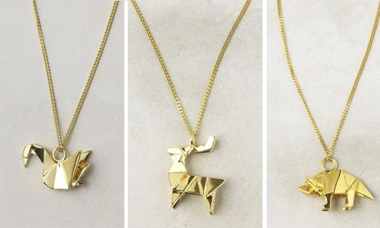 Decent Origami Necklace