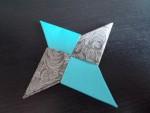 Two Tone Origami Ninja Star