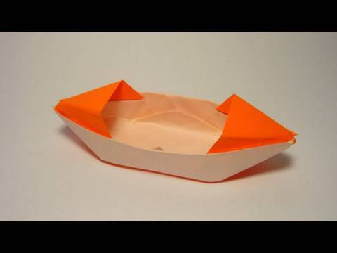 Origami Paper Boat with Rooftop