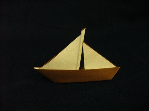 Simple Origami Sailboat