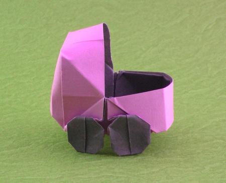 Pink Origami Stroller