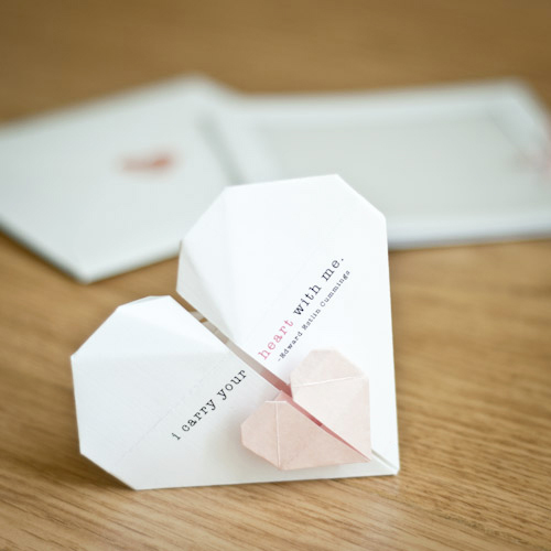 Try this Origami Wedding Invitations