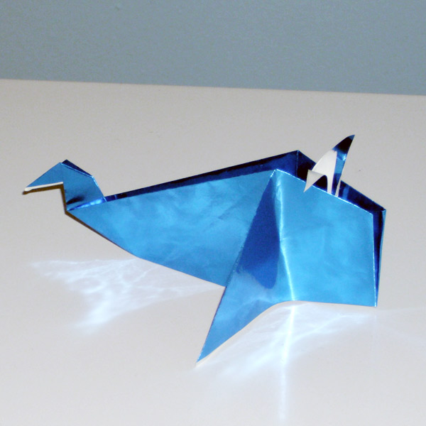 Cool Blue Origami Whale
