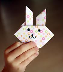 Rabbit Origami at Origami.Com For Kids