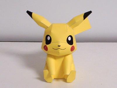 Pikachu Pokemon Origami