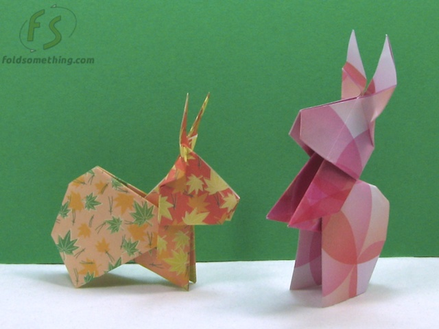 Patterned Rabbit Origami
