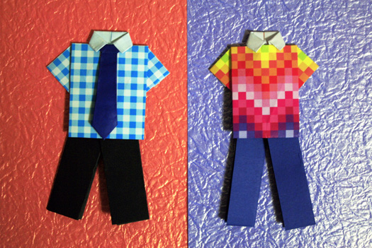 Funky Shirt Origami