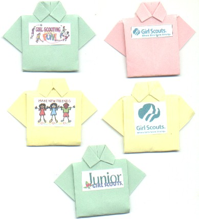 Designed T Shirt Origami