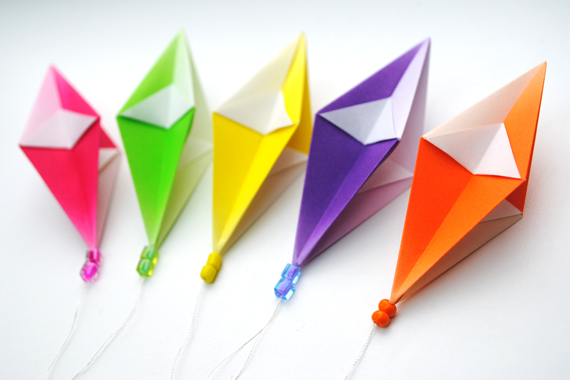 Colorful Origami from Www.Origami-Kids.Com