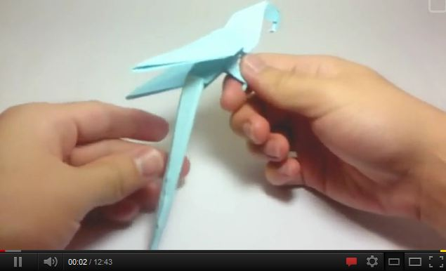 Bird Youtube Origami