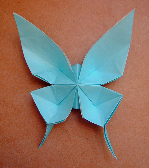 Butterfly Blue Origami Paper