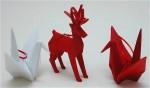 Reindeer & Crane Christmas Origami Ornaments