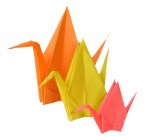 Father Mother Child Crane Origami