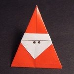Little Santa Easy Christmas Origami