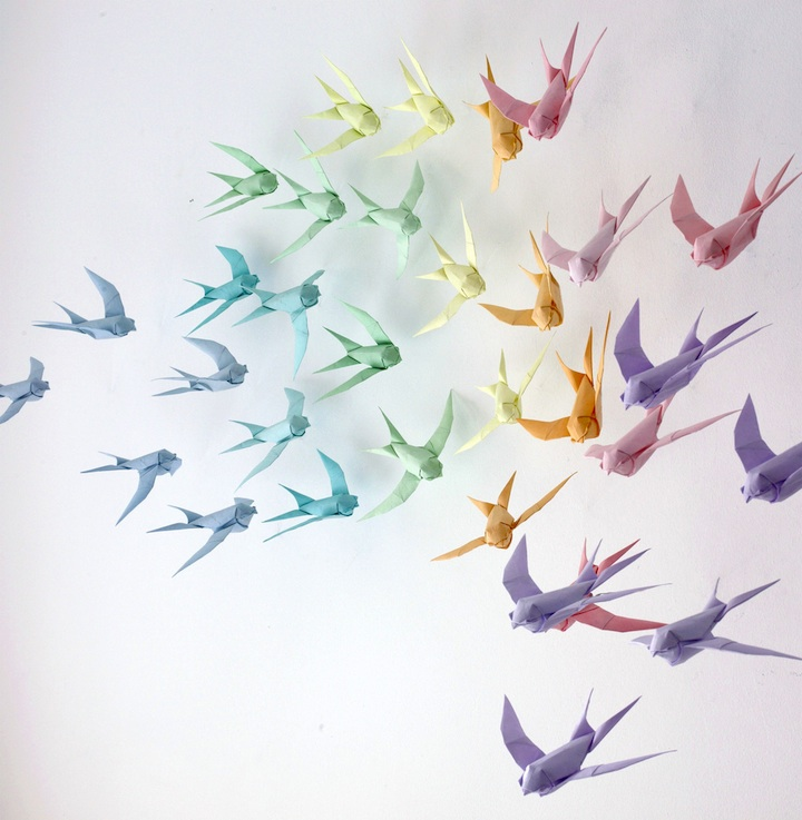 Flying Free Origami Paper