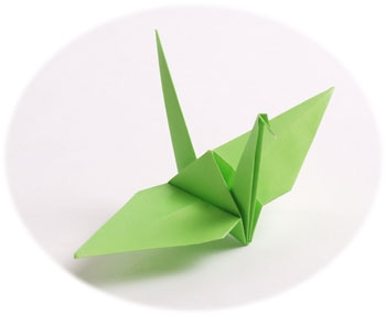 Soothing Green Origami Paper