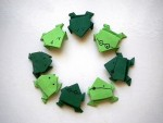 Group of Jumping Frog Origami