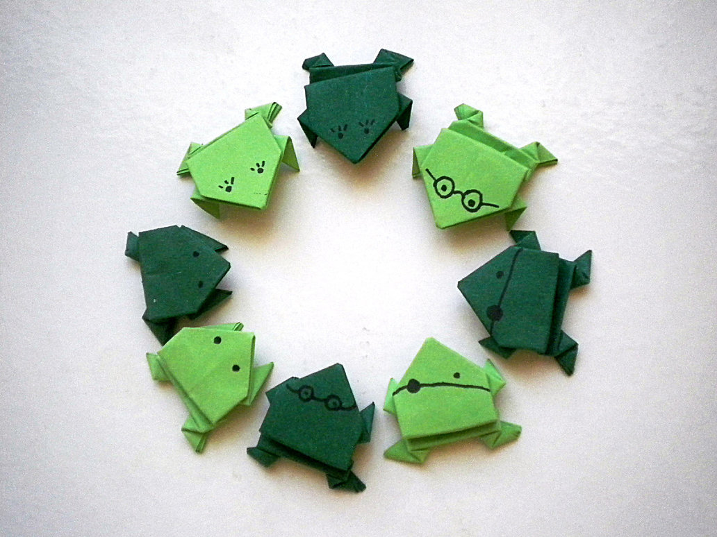 Jumping frog origami - photo#27