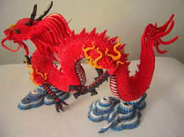 Very Detailed Origami Chinese Dragon