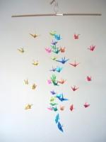 Hanging Origami Crane Mobile